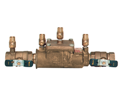 Model 007 double check backflow assembly