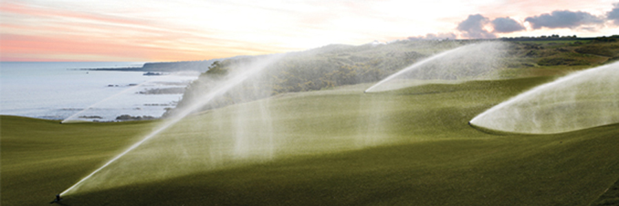Toro rotors watering golf course