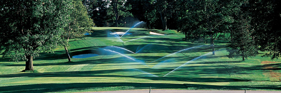 Irrigated golf course